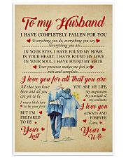 To Husband 11x17 Poster front