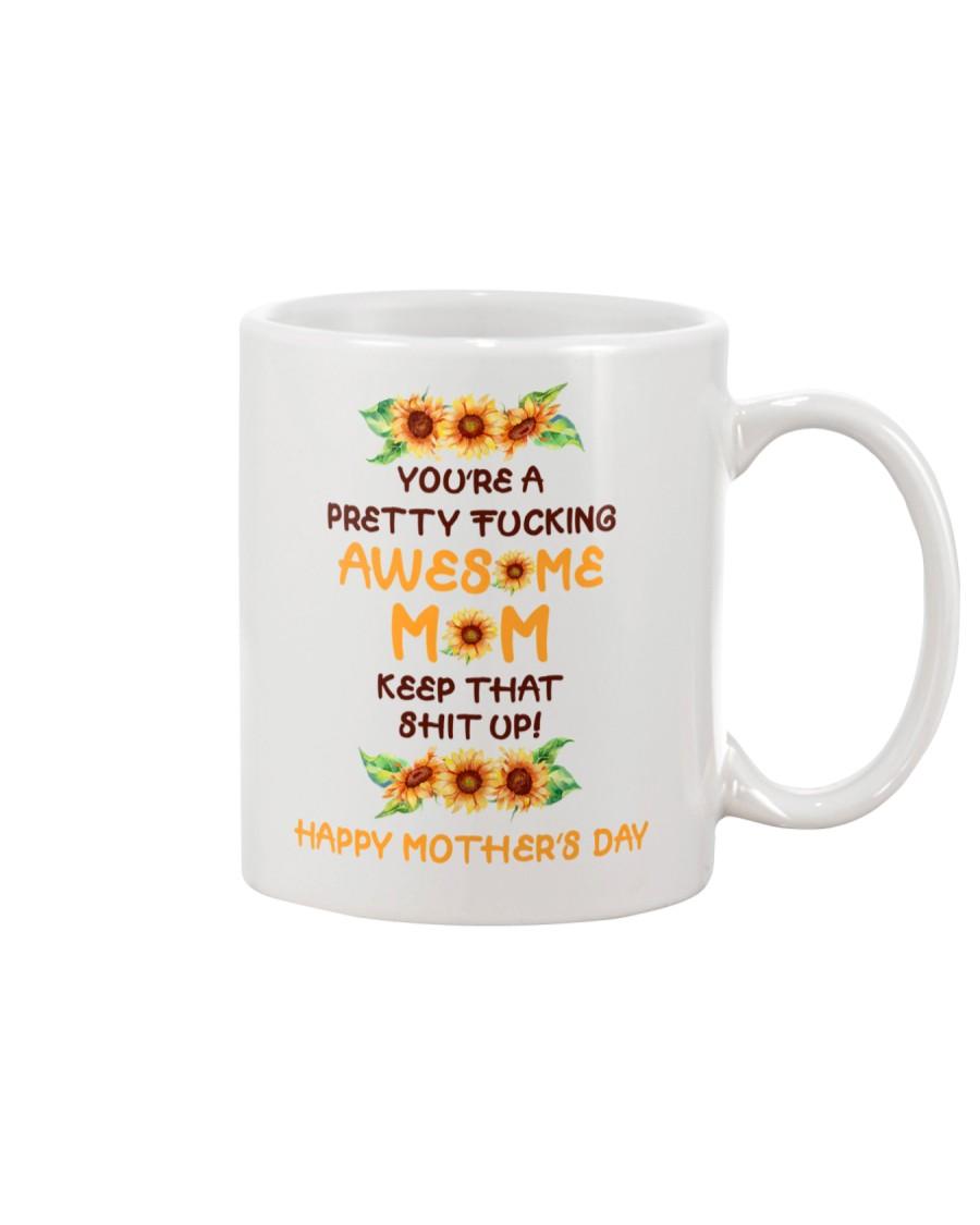Awesome Mom Sunflower Mug