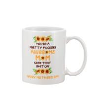 Awesome Mom Sunflower Mug front
