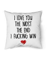 "Love The Most The end  Indoor Pillow - 18"" x 18"" thumbnail"
