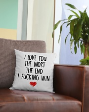 Love The Most The end  Square Pillowcase aos-pillow-square-front-lifestyle-03