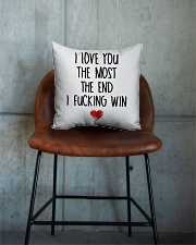 Love The Most The end  Square Pillowcase aos-pillow-square-front-lifestyle-04