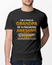 Proud Grandpa Of An Awesome Granddaughter Classic T-Shirt lifestyle-mens-crewneck-front-13