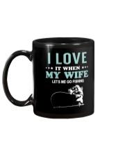 Love My Wife Fishing  Mug back