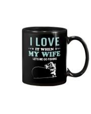 Love My Wife Fishing  Mug front