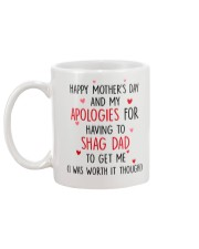 Apologies Shag Dad Mug back