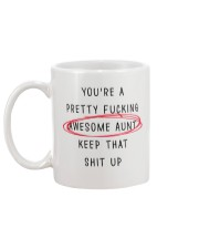 Pretty Awesome Aunt Mug back