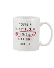 Pretty Awesome Aunt Mug front