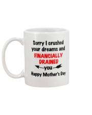Financially Drained Mug back