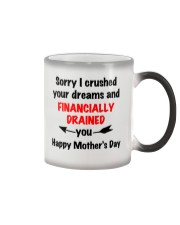 Financially Drained Color Changing Mug tile