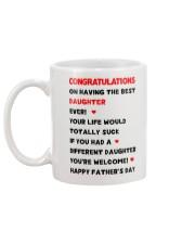Dad Having Best Daughter Mug back