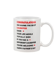 Dad Having Best Daughter Mug front