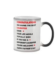 Dad Having Best Daughter Color Changing Mug thumbnail