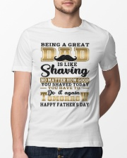 Being A Dad Is Like Shaving Classic T-Shirt lifestyle-mens-crewneck-front-13