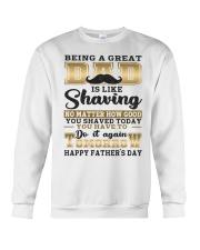 Being A Dad Is Like Shaving Crewneck Sweatshirt thumbnail