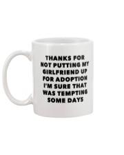 Putting Up For Adoption Mug back