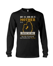 Job As A Mother Long Sleeve Tee front