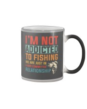 Not Addicted To Fishing  Color Changing Mug tile