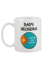 Dad's Decision Mug back