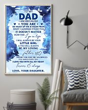 I Am Because You Are To Dad From Daughter 11x17 Poster lifestyle-poster-1