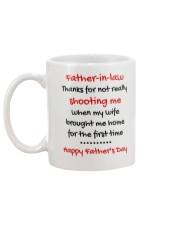 Not Really Shooting Me Mug back