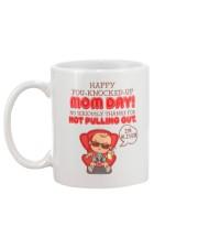 Happy You-knocked-up Mom Day Mug back