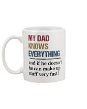 Dad Knows Everything Mug back