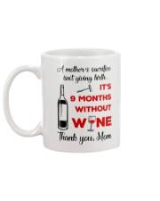9 Months Without Wine Mug back