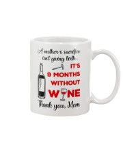 9 Months Without Wine Mug front