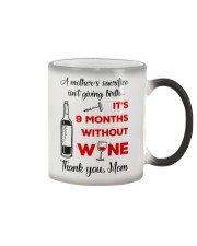 9 Months Without Wine Color Changing Mug thumbnail