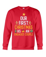 First Xmas As An Engaged Couple Crewneck Sweatshirt front