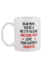 Awesome Mom Favorite Daughter Mug back
