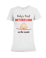Baby First Mother's Day Inside Premium Fit Ladies Tee thumbnail