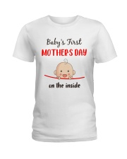 Baby First Mother's Day Inside Ladies T-Shirt front
