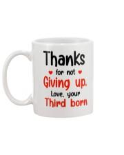 Thanks For Not Giving Up Mug back