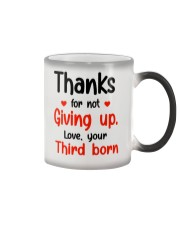 Thanks For Not Giving Up Color Changing Mug thumbnail