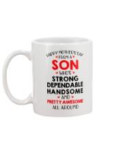 Dependable Awesome Son Mug back