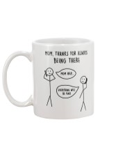 Thanks For Being There Mom Mug back