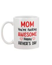 Mom Awesome FD Mug back