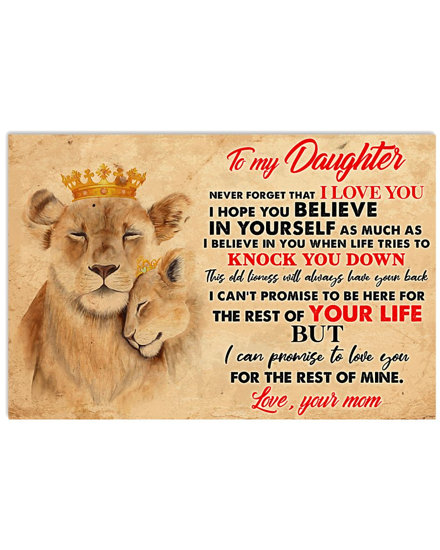 To My Daughter 17x11 Poster