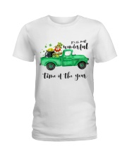 Most Wonderful Time Truck Ladies T-Shirt front