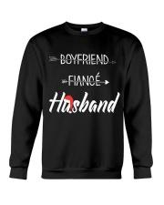 Boyfriend Fiance Husband Hat Crewneck Sweatshirt thumbnail