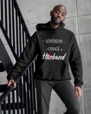 Boyfriend Fiance Husband Hat Hooded Sweatshirt apparel-hooded-sweatshirt-lifestyle-front-10
