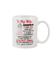 When I Tell You I Love You Mug front