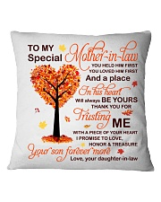 My Special Mother-in-law Pillow Square Pillowcase front