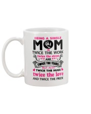 Being A Single Mom Is Twice Mug back