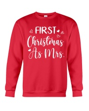 First Christmas As Mrs Crewneck Sweatshirt front