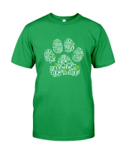 Dog Paw Lucky Charm Classic T-Shirt front