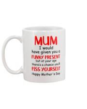 Funny Present Piss Yourself Mug back