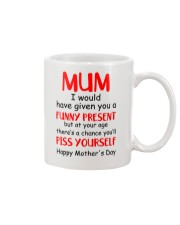Funny Present Piss Yourself Mug front